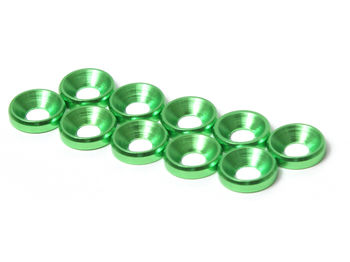 M3 CS Washer 10pcs (Green) by JQRacing