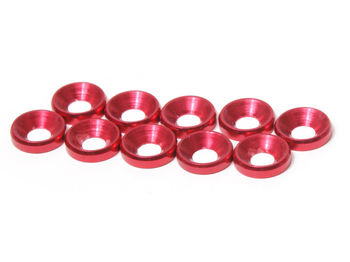 M3 CS Washer 10pcs (Red) by JQRacing
