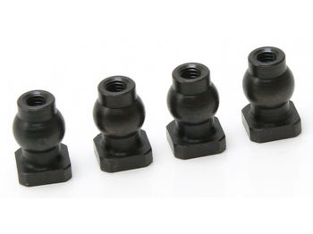7mm ALU Lightweight Threaded Ball with Nut (4pcs) by JQRacing