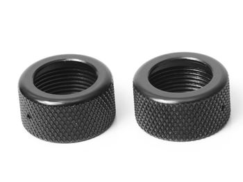 CNC Shock Cap (2-Piece) 2pcs (RTR) by JQRacing