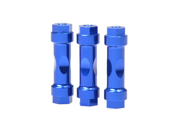 CNC Wingmount Posts (3pcs Blue) by JQRacing