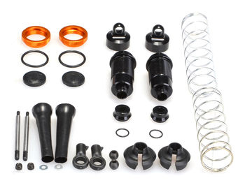 Front Silk Shocks (2pcs) (YE) by JQRacing