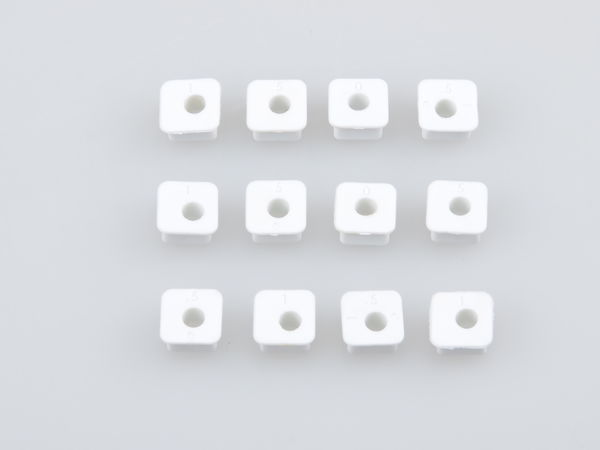 White Square Insert Set 12Pcs (WE) by JQRacing