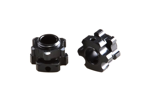 Lightweight +1mm Hex & Nuts (2pcs) by JQRacing
