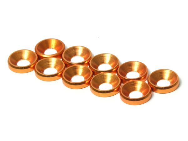 M4 CS Washer 10pcs (Gold) by JQRacing