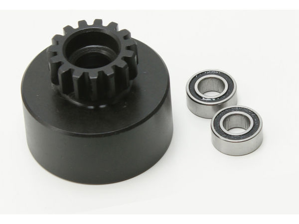 15t Clutchbell, 2pcs 5x10 bearing by JQRacing