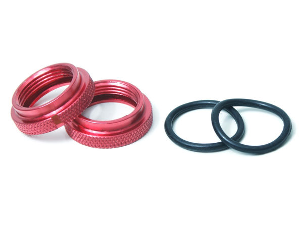 RH Nut for Silk Shocks 2pcs (Red) (YE) by JQRacing
