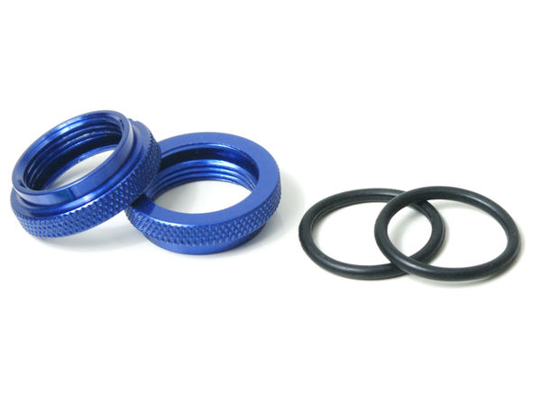 RH Nut for Silk Shocks 2pcs (Blue) (YE) by JQRacing
